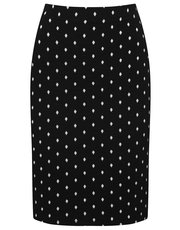 Petite spot print pencil skirt