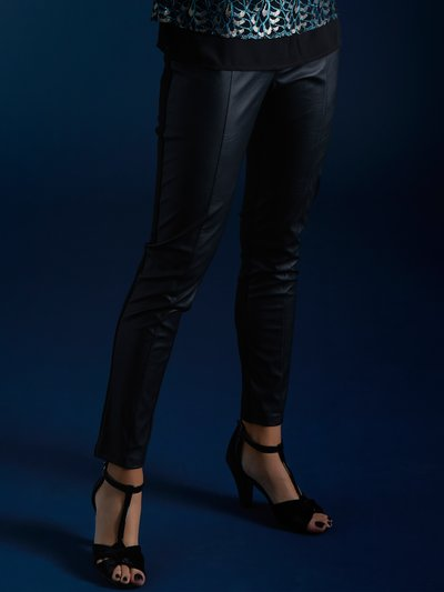 Ponte leather look leggings