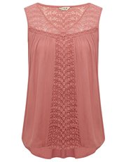 Sleeveless yoke lace top
