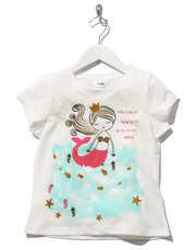 Mermaid print t-shirt