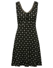 Fan print sleeveless nightdress