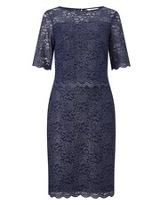 Precis Petite foil lace layer dress