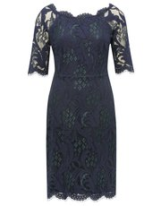 Two tone lace shift dress
