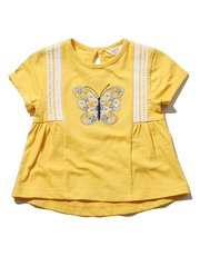 Butterfly embroidered t-shirt