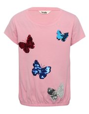 Two way sequin butterfly t-shirt
