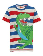 Dinosaur Roar stripe t-shirt