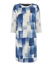 VIZ-A-VIZ abstract print dress