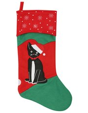 Festive cat Christmas stocking