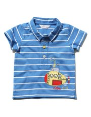 Stripe submarine polo shirt