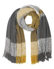 Boucle check blanket scarf