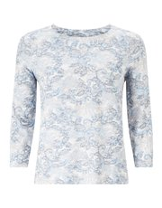 Eastex lace print top