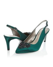 Jacques Vert diamante trim slingback shoe