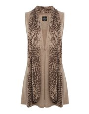 TIGI printed sleeveless cardigan