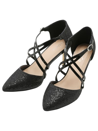 Sparkly heeled courts