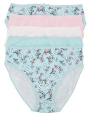 Butterfly print high leg briefs multipack