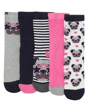 Teens' glitter pug socks five pack