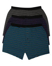 Pure cotton stripe boxers three pack