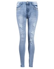Quiz pearl and diamante jeans