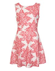 Quiz crochet paisley print dress