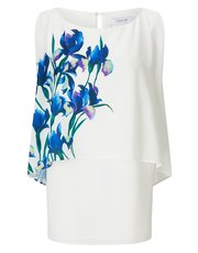 Jacques Vert placement print layered top