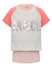 Dance slogan layer t-shirt