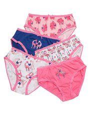Elephant giraffe and flamingo print briefs five pack