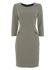 Roman Originals stripe zip detail dress