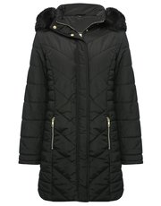 Longline padded coat