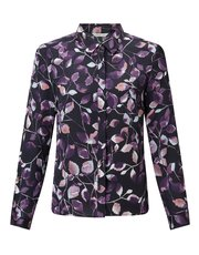 Eastex inky leaves print blouse