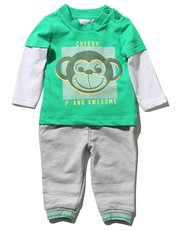 Cheeky monkey print top and joggers set
