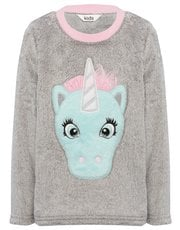 Unicorn fleece pyjama top