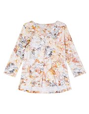 Dash linear floral jersey print top