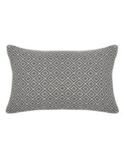 Geometric jacquard cushion