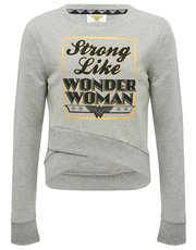 Teens' Wonder Woman wrap front sweater