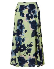 Eastex Osaka floral georgette skirt