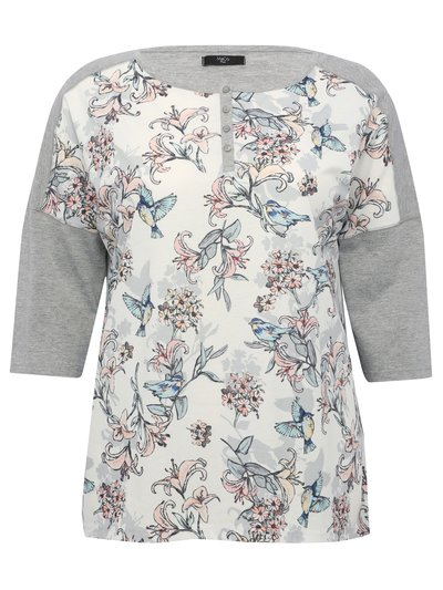 Plus floral loungewear top