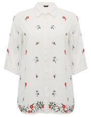 Plus embroidered shirt