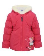 Peppa Pig faux fur trim hooded jacket