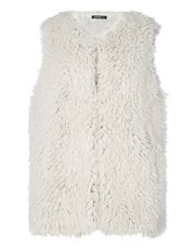 Roman Originals textured faux fur gilet