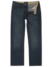 Stone wash straight leg jeans