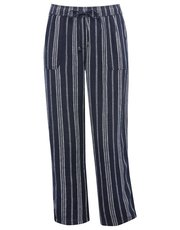 Plus linen stripe trousers