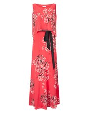 Jacques Vert print belted maxi dress