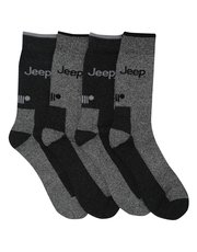 Jeep crew length boot socks four pack
