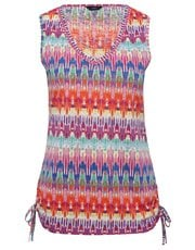 Ikat print tie side vest top