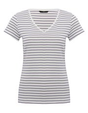 V neck stripe top