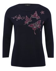 Stud embellished butterfly jumper