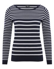 Petite button stripe jumper