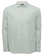 Grid check long sleeve shirt