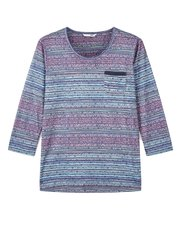 Dash tapestry stripe top