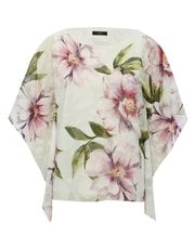 Floral print batwing top